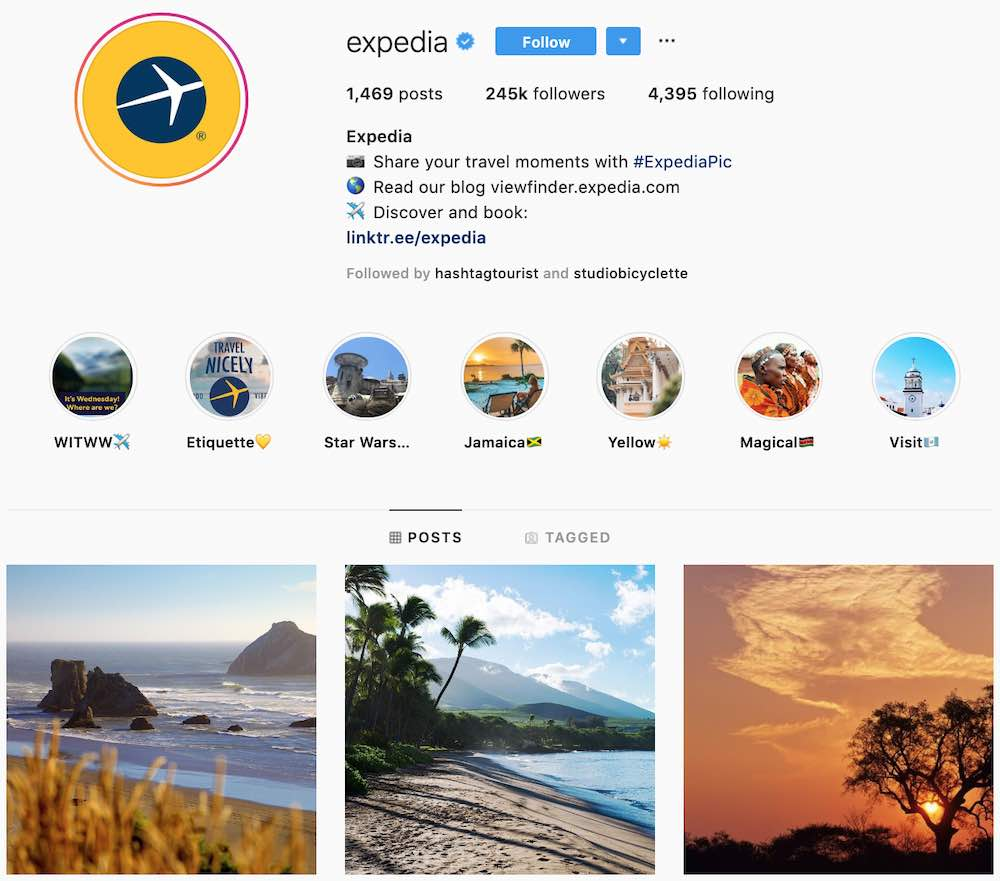 expedia instagram