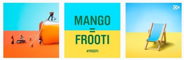 Frooti instagram